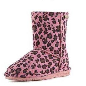 Bearpaw Emma Girls Youth Boot Pink Leopard Snow